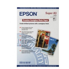 Бумага Epson A3+ Premium Semigloss Photo Paper, 20 л.