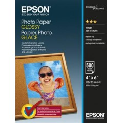 Бумага Epson 100mmx150mm Glossy Photo Paper, 500л