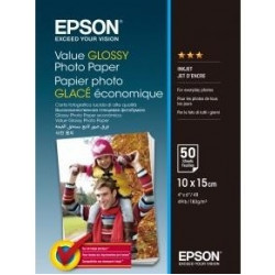 Бумага Epson 100mmx150mm Value Glossy Photo Paper 50 л.