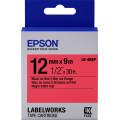 Картридж с лентой Epson LK4RBP принтеров LW-300/400/400VP/700 Pastel Black/Red 12mm/9m