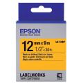 Картридж с лентой Epson LK4YBP принтеров LW-300/400/400VP/700 Pastel Black/Yellow 12mm/9m