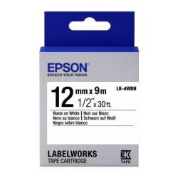 Картридж с лентой Epson LK4WBN принтеров LW-300/400/400VP/700 Standard Black/White 12mm/9m