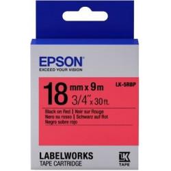 Картридж с лентой Epson LK5RBP принтеров LW-400/400VP/700 Pastel Blk/Red 18mm/9m
