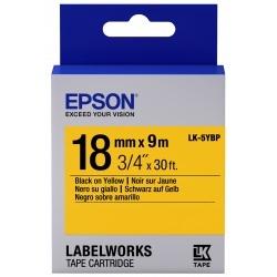 Картридж с лентой Epson LK5YBP принтеров LW-400/400VP/700 Pastel Blk/Yell 18mm/9m