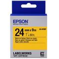 Картридж с лентой Epson LK6YBP принтеров LW-700 Pastel Blk/Yell 24mm/9m