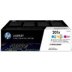 Картридж HP 201X СLJ M252/M277 Cyan (CF401X,CF402X,CF403X) CYM (3*2300 стр) Тройная упаковка