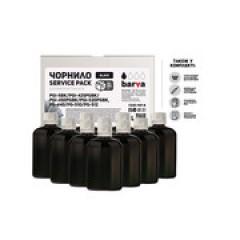 ЧЕРНИЛА BARVA CANON PGI-520/PG-510 (MG2140/MP230/MP250/MP280) BLACK 1 Л (10X100 МЛ) SERVICE PACK (C520-1SP-B)