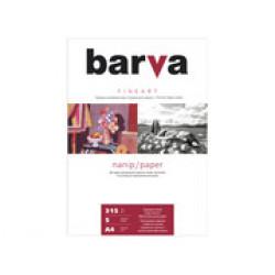 БУМАГА BARVA FINE ART НАТУРАЛЬНО-БЕЛАЯ БУМАГА-ХОЛСТ (IP-ZD315-T01) А4 5 Л