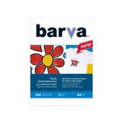 БУМАГА BARVA THERMOTRANSFER БЕЛЫЕ ТКАНИ (IP-T200-T01) А4 5 Л