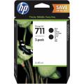 Картридж HP No.711 DesignJet 120/520 Black (2*80ml) Двойная упаковка