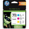 Картридж HP No.711 DesignJet 120/520 CYM (3*28ml) Тройная упаковка