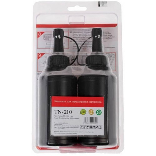 TN-210: Заправочный комплект для картриджа Pantum PC-230R P2200/2207/2507 (2*1600стр; 2тонера + 2чипа)