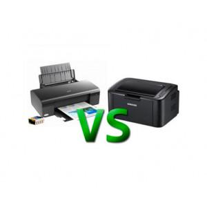 Основные отличия лазерных и струйных принтеров